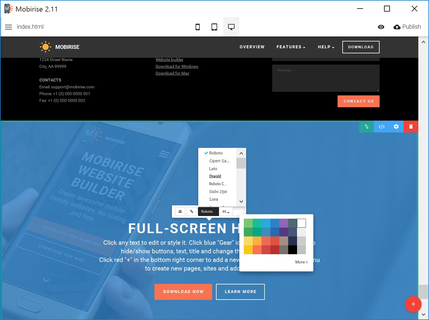 Responsive Web Page  Creator
