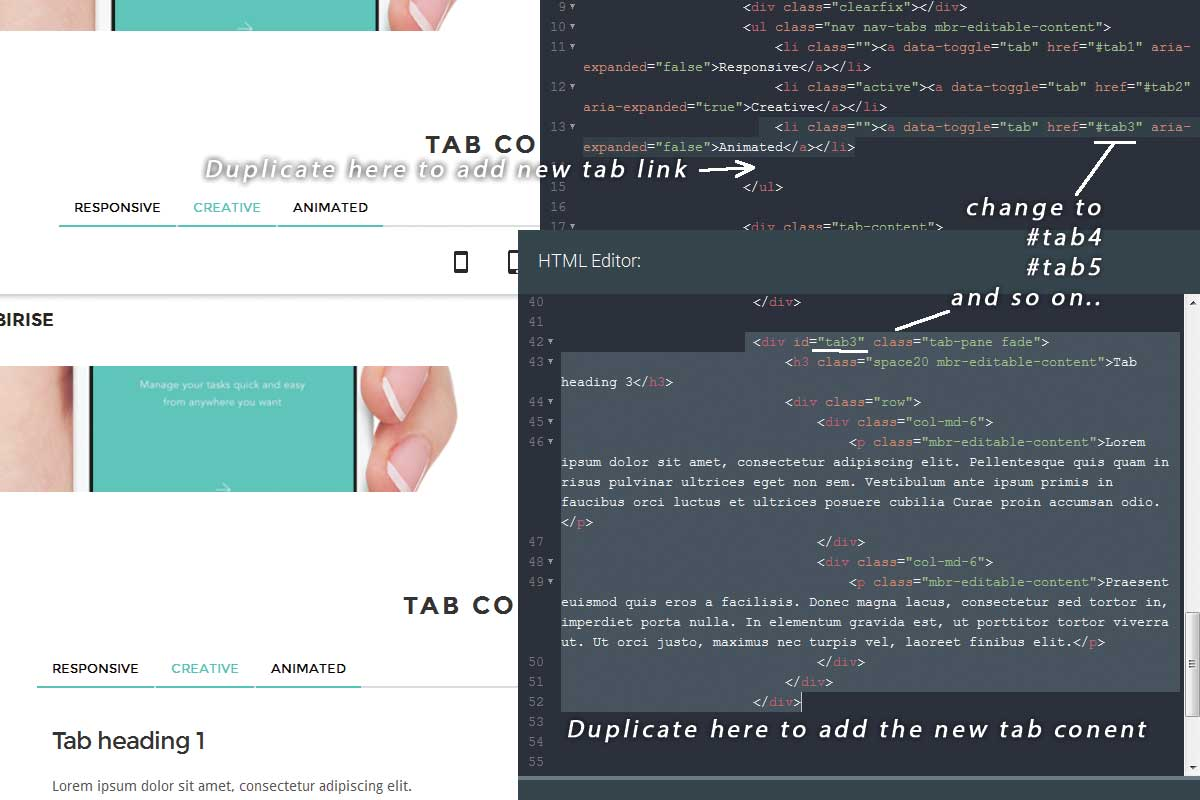 Premium Bootstrap Color Theme