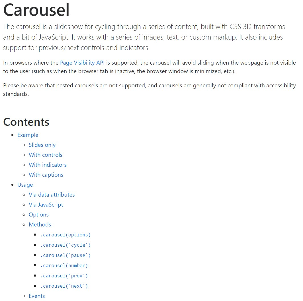 Bootstrap carousel  main  records