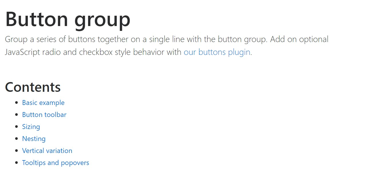 Bootstrap button group  main documentation