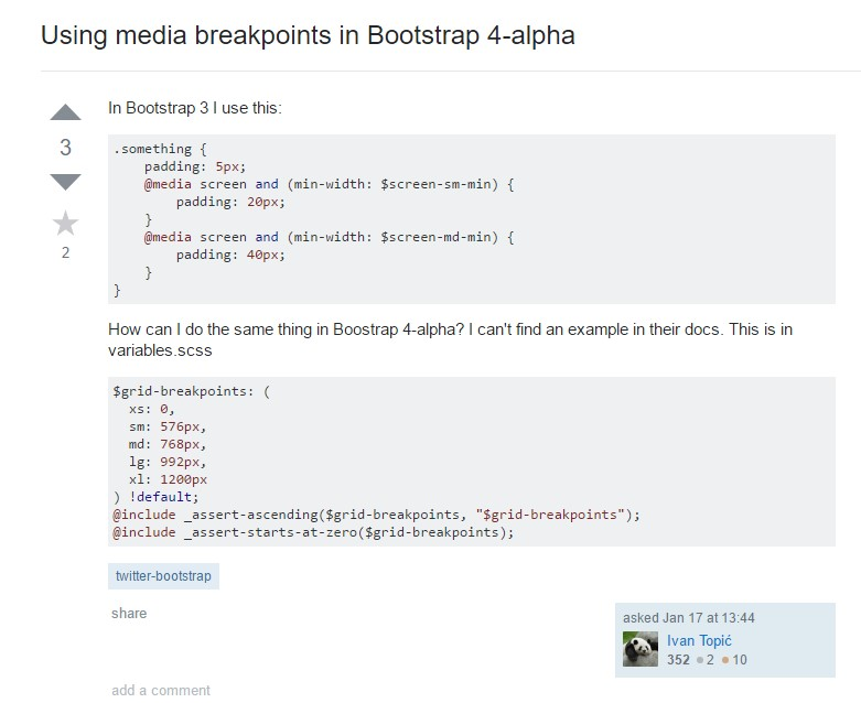 Bootstrap Breakpoints  complication
