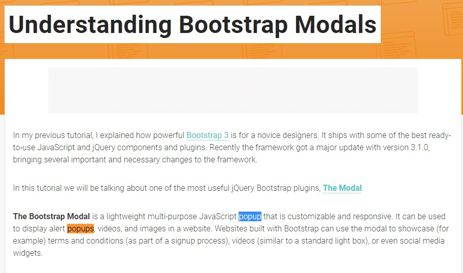 An additional  valuable  content  relating to Bootstrap Modal Popup