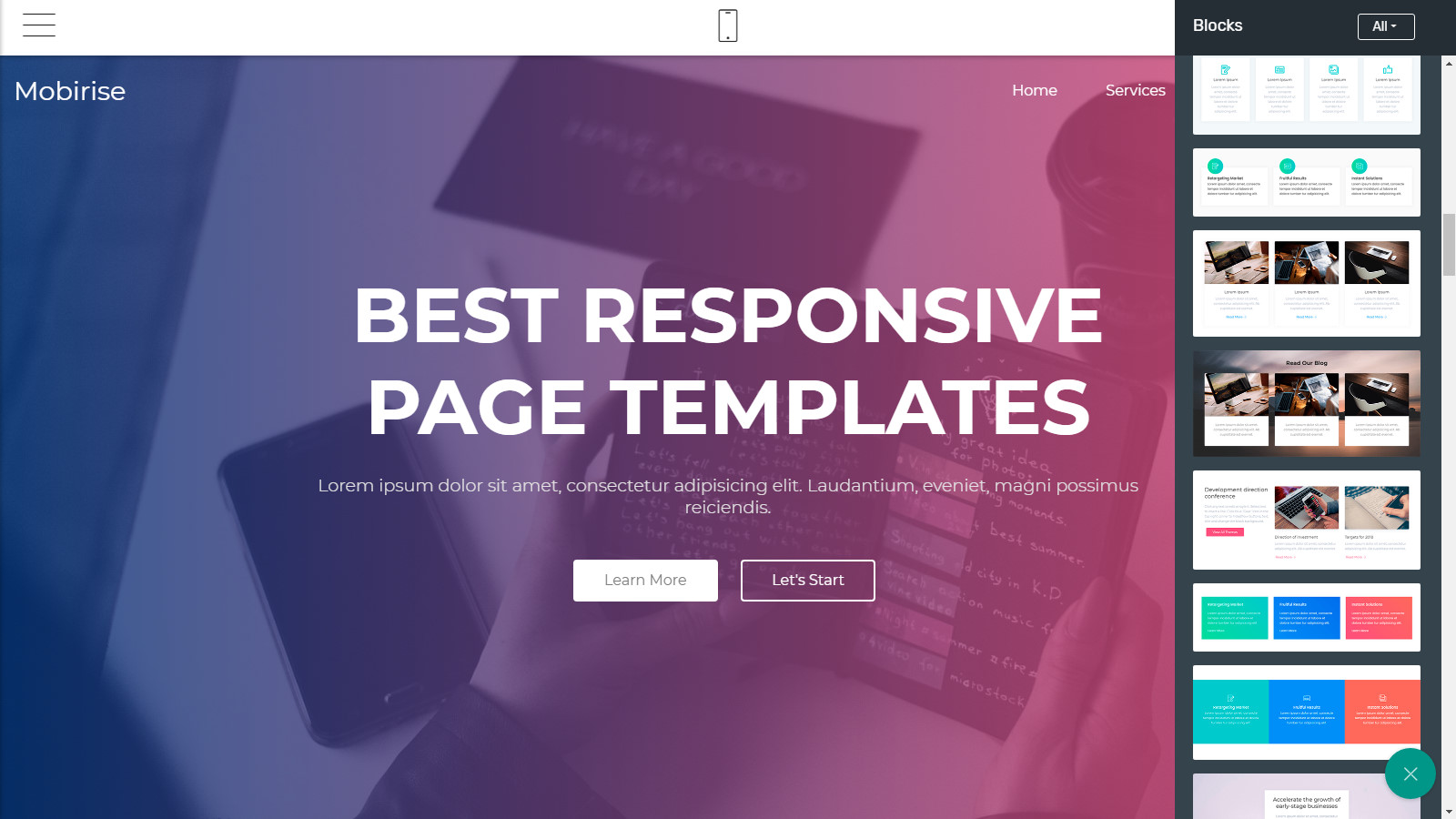 free webpage themes review